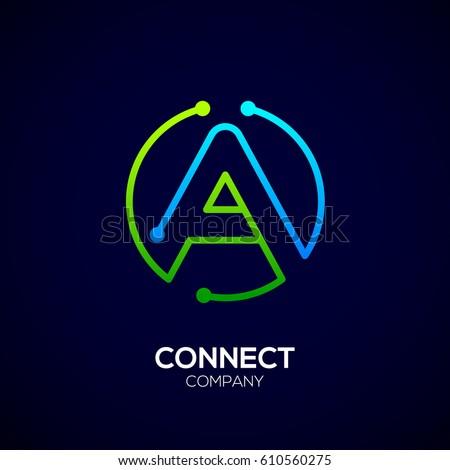 letter a logo  circle shape