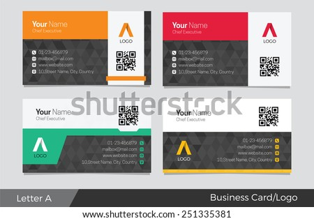 Letter A logo corporate business card