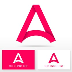Letter A logo icon design template elements - vector sign. Business card templates.