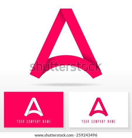 letter a logo icon design