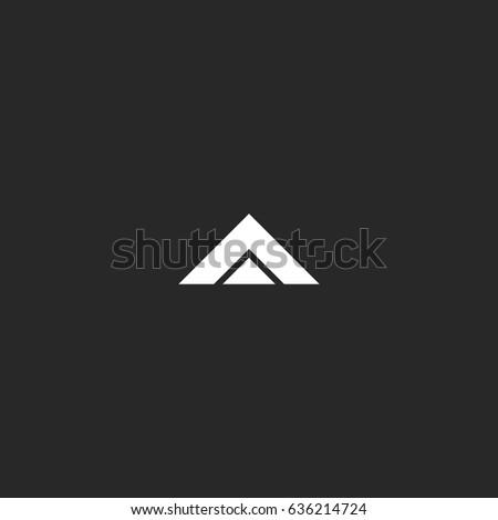 letter a logo mockup  black and