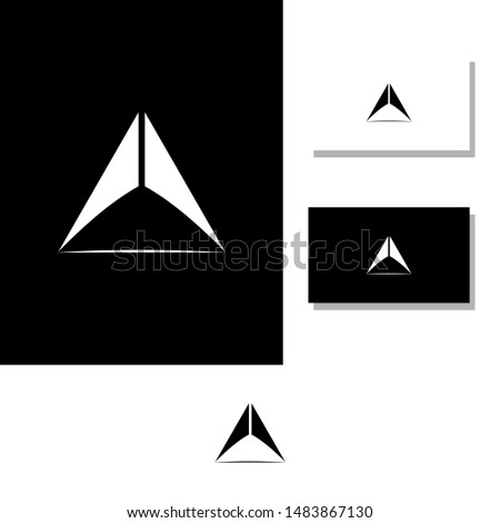 Letter A logo, Simple and simple abstract AA symbols are shaped like circles