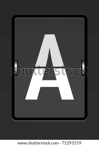 letter  a on a mechanical timetable