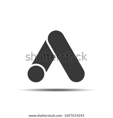 Letter A on a white background.