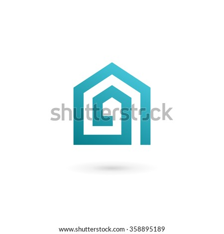 letter a real estate house logo