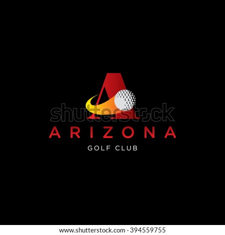 letter A vector template for using as golf club logo
