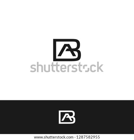 Letter AB, Letter BA, Letter A & B, Letter B & A icon / logo template