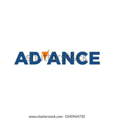 letter Advance vector logo. negative space logo.