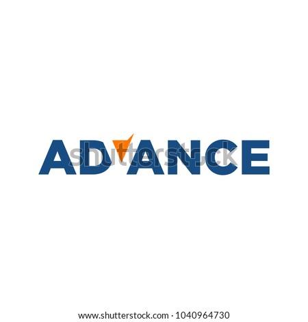 letter Advance vector logo. negative space logo.