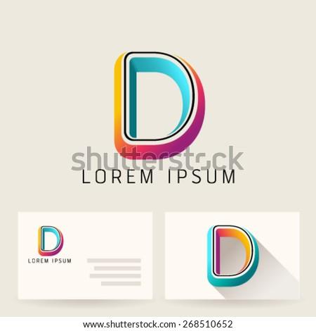 letter alphabet d logo icon