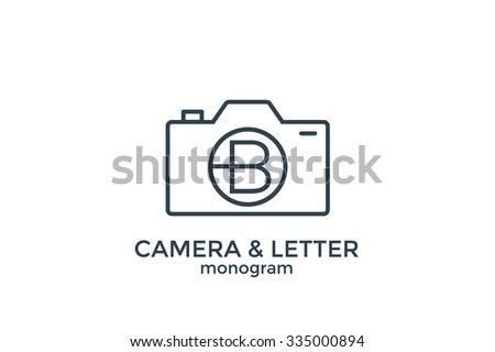letter b and camera monogram