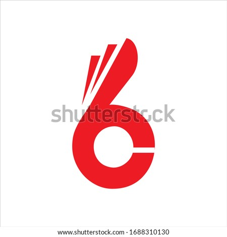 Letter B C fingers vector sign. Hand Ok symbol icon. Negative space idea logotype. Bunny rabbit logo design template. Foto stock ©