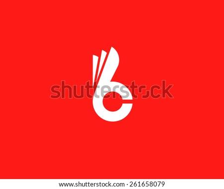 letter b c fingers vector sign