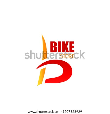 letter b icon for bike store or