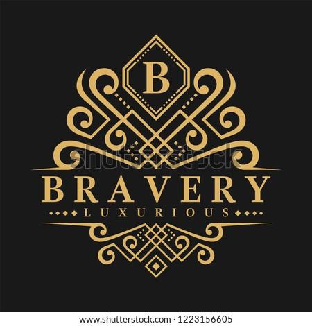 Letter B Logo - Classic Luxurious Style Logo Template Stock fotó ©