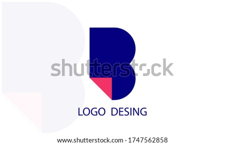 letter b logo design in blue