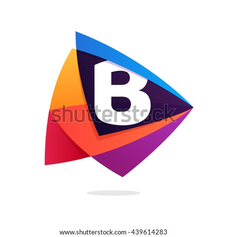 letter b logo in triangle