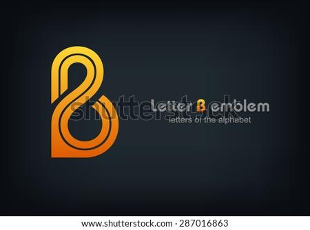 letter b logo vector alphabet