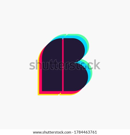 letter b logo with stereo