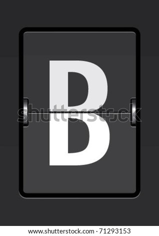 letter b on a mechanical