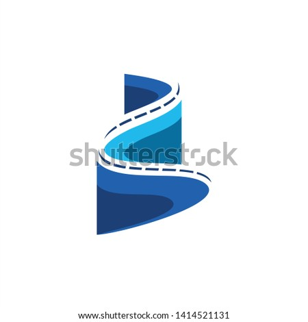 letter b turn icon vector logo