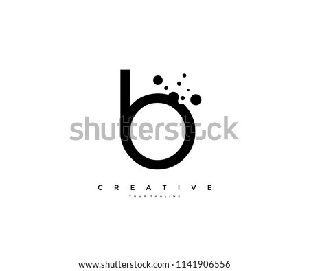 Letter B with dots shape logo design Stock fotó ©