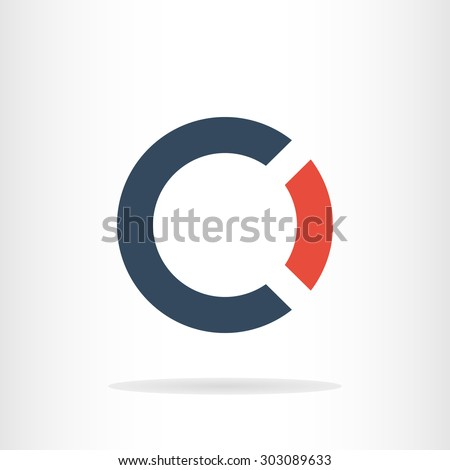 Letter C and O logo template. Business logo template. CO logo. CO silhouette Foto stock ©