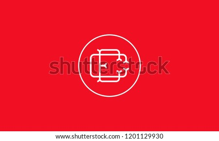 LETTER C AND R LOGO WITH CIRCLE FRAME FOR LOGO DESIGN OR ILLUSTRATION USE Zdjęcia stock ©