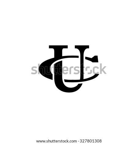 letter C and U monogram logo Foto stock ©