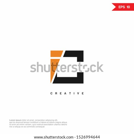 Letter C, CI, IC abstract modern Logo icon monogram design. Vector graphic design template element. Stock fotó ©