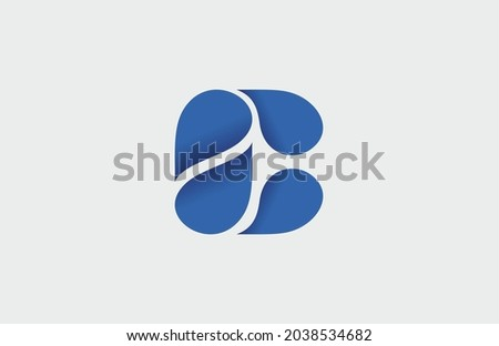 Letter C Dropwater Logo Illustration Foto stock ©