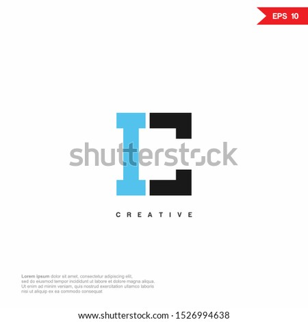 Letter C, IC, CI modern Logo icon monogram design. Vector graphic design template element. Stock fotó ©