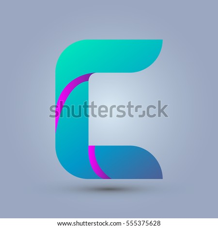 letter c icon and logo template
