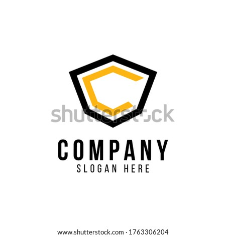 Letter C logo icon design template elements - vector sign. Creative Shield Logo With C Letter. Sign of Protection, Guard, Insurance and Security. Initial C vector design template with shield.