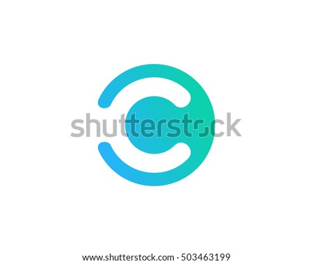 Letter C Negative Space Logo Design Template
