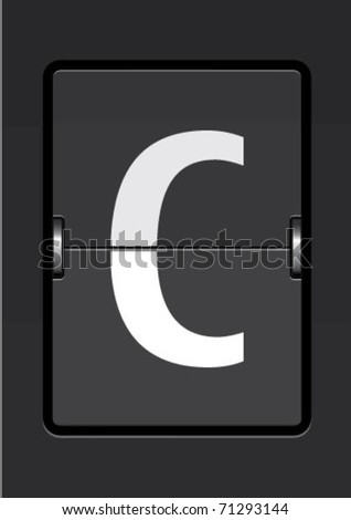 letter c  on a mechanical timetable
