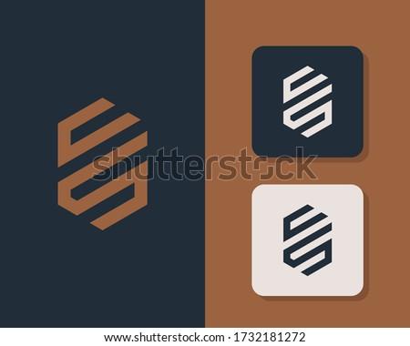 Letter C S logo design. creative minimal monochrome monogram symbol. Universal elegant vector emblem. Premium business logotype. Graphic alphabet symbol for corporate identity Stock fotó ©