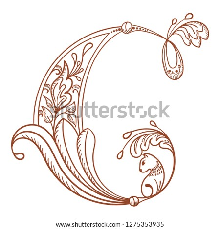 Letter C Hand Drawn Style Download Free Vector Art Stock Graphics