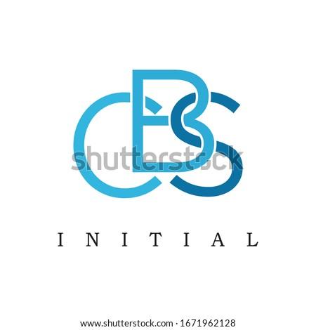 Letter CBS Initials Logo Design