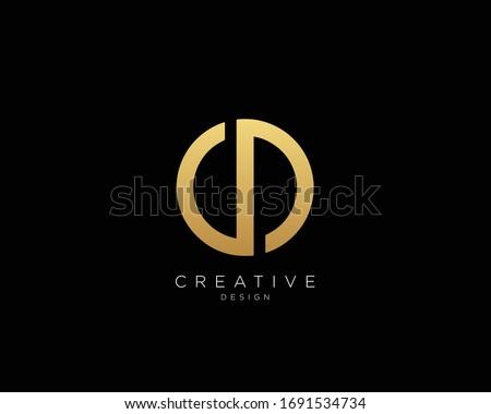Letter CD Logo Design, Creative Minimal CD Monogram In Gold Color Stock photo ©