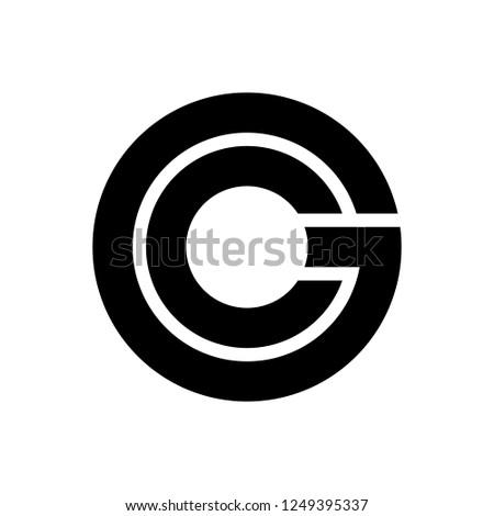 Letter CG / GC logo Stock fotó ©