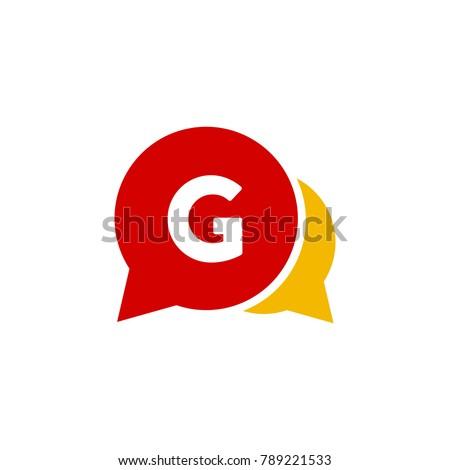 Letter chat logo