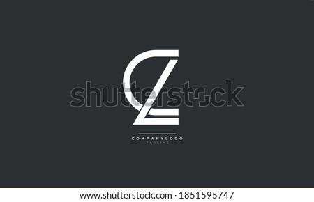Letter CL or LC Business Logo Design Alphabet Icon Vector Monogram Photo stock ©