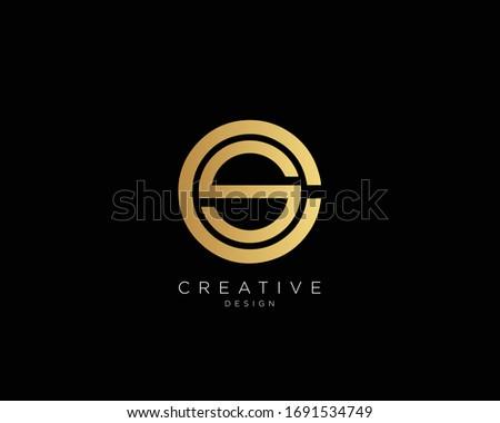 Letter CS SC Logo Design, Creative Minimal CS SC Monogram In Gold Color Stock fotó ©