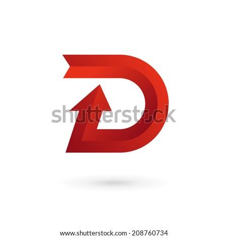 Letter D arrow r...D Arrow Logo
