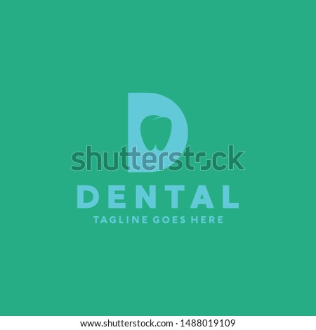 Letter D For Dental Clinic And Care Logo Vector Design Template. Protect and Medicine Icon. Modern And Clinical Symbol.