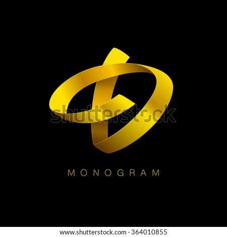 letter d golden monogram