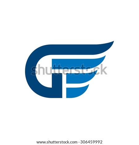 letter d letter g wing logo