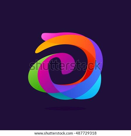 letter d logo at colorful
