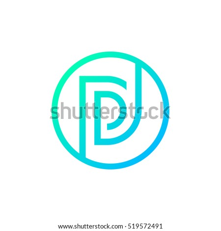 Letter D logo,Circle shape symbol,Digital,Technology,Media